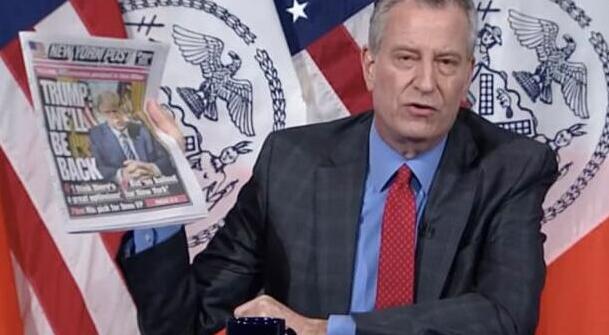 纽约市长批特朗普:把党派偏见置于国家需求之上,伪君子!