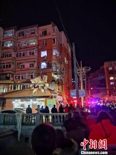 图为爆炸事故现场。 大宣 摄