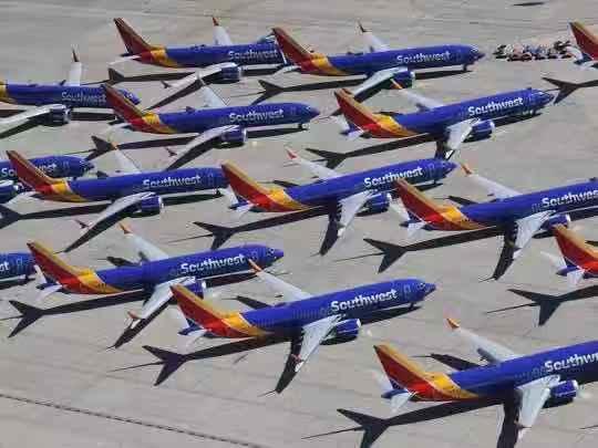 △图为西南航空737 Max机群