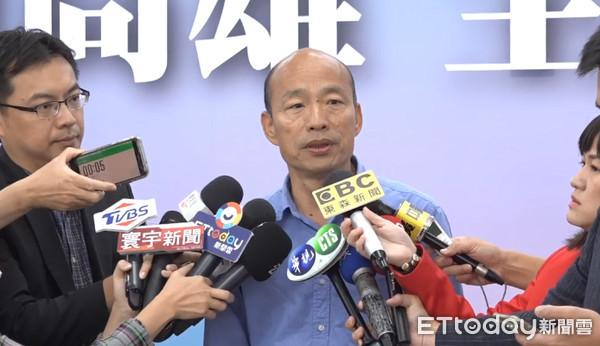 """准高雄市长韩国瑜(图片来源:台湾""""东森音信云"""")"""