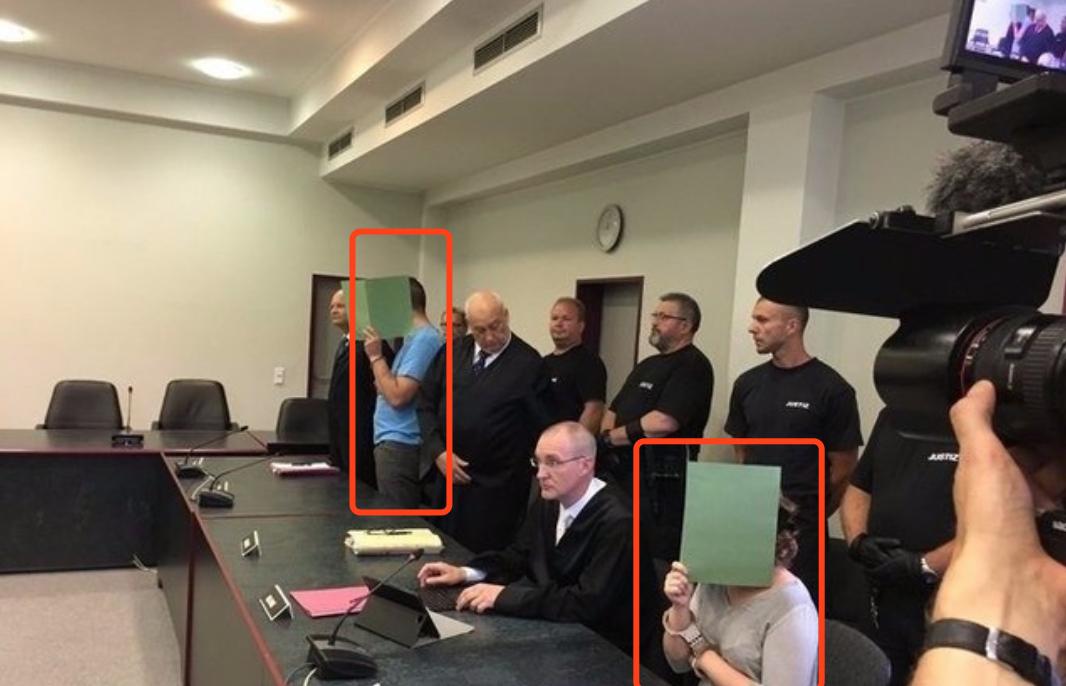 李洋洁案于2017年8月4日在德国德绍地方法院宣判。受访者供图。
