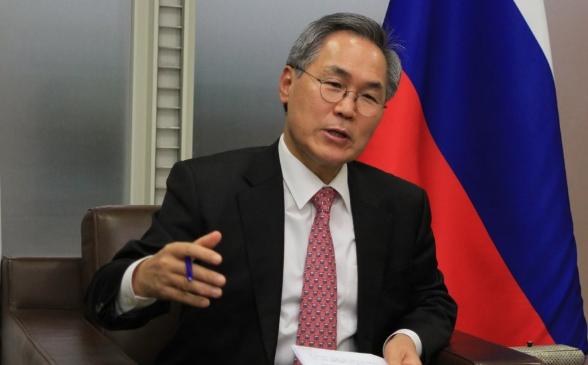 韩国驻俄罗斯大使Woo Yoon-keun(韩联社)