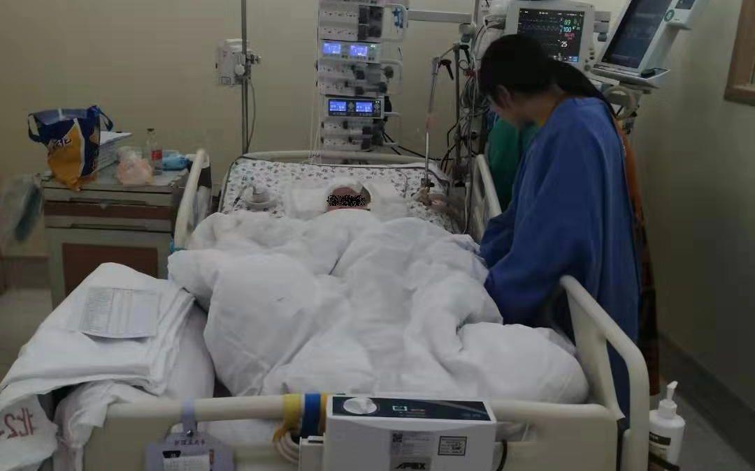 截至今日(11月18日),小虫仍在昏迷中。受访者供图
