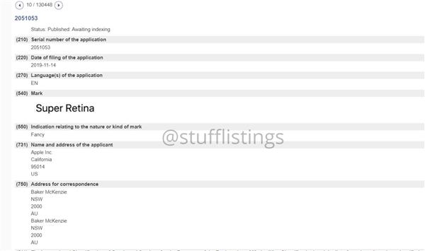 苹果申请超级视网膜注册商标,下一代iPhone有...