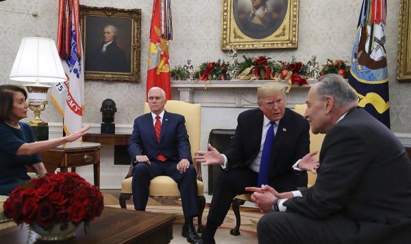 """国会不给钱""""修墙""""? 特朗普:美国政府这就关门"""