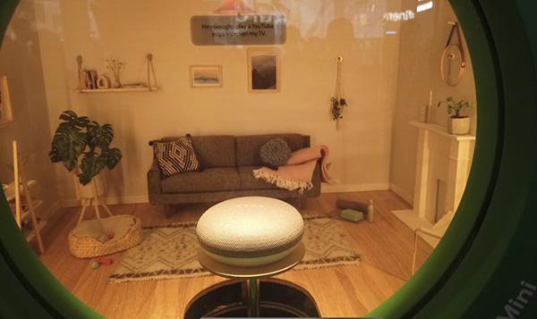 谷歌通过微观装置艺术展示智能家庭方案。