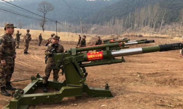 资料图片:北方工业公司研发的远程灭火炮。(《中国日报》供图)