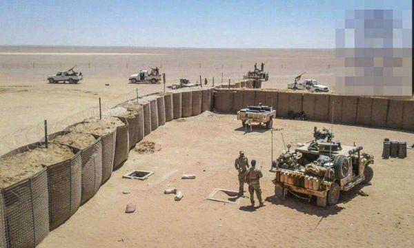 图为安放在叙利亚的美军部队