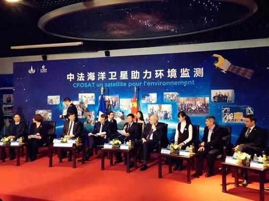 马克龙访问中国空间技术钻研院