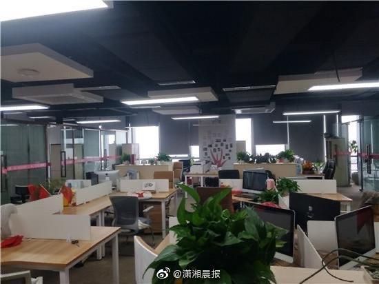 11月18日下昼,十安健康公司办公室,记者采访完老板后不见员工踪影。