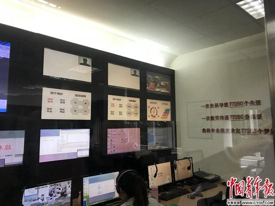 网校位于成都七中的导播室程盟超/摄