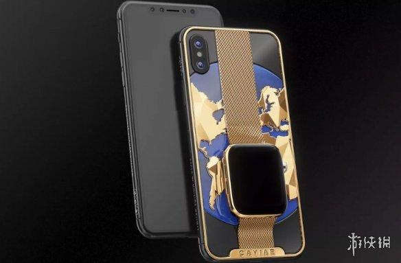 俄羅斯發布天價iPhone 純金外殼搭掛蘋果手表