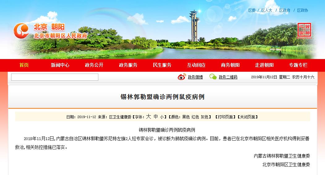 """北京市朝阳区人民政府办公室网站""""北京朝阳""""官网截图。"""