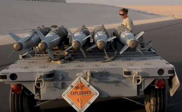 资料图片:美空军BLU-129炸弹。(图片来源于网络)