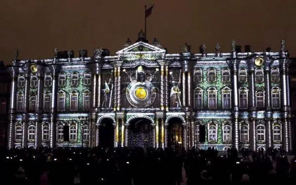 俄罗斯艾尔米塔什博物馆3D灯光秀