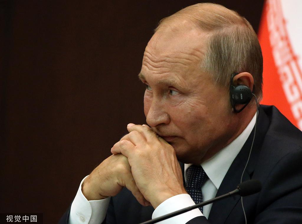 俄罗斯总统普京16日出席在安卡拉举行的叙利亚问题第五次峰会。图/视觉中国