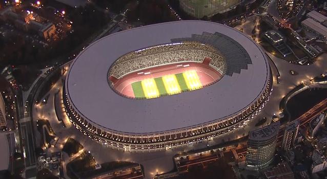 新国立竞技场。(图源:朝日新闻)