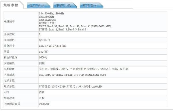 OPPO K5入網信息公布,采用6.4英寸1080P屏幕