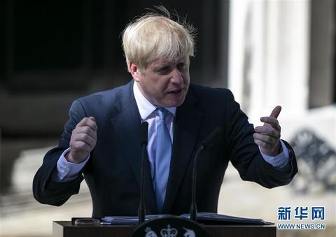 资料图:英国首相鲍里斯·约翰逊。(图源:新华网)