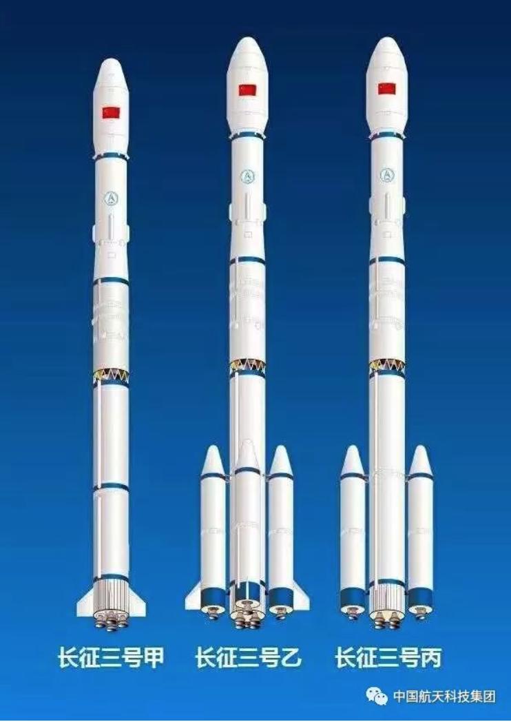 長征三號甲系列火箭構型。圖源:航天科技集團