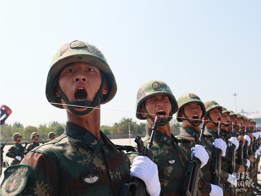△火箭军方队。(央视记者刘笑宇拍摄)