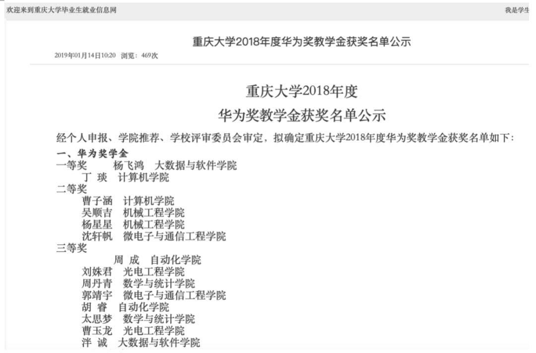 图片来源:重庆大学毕业生就业信息网