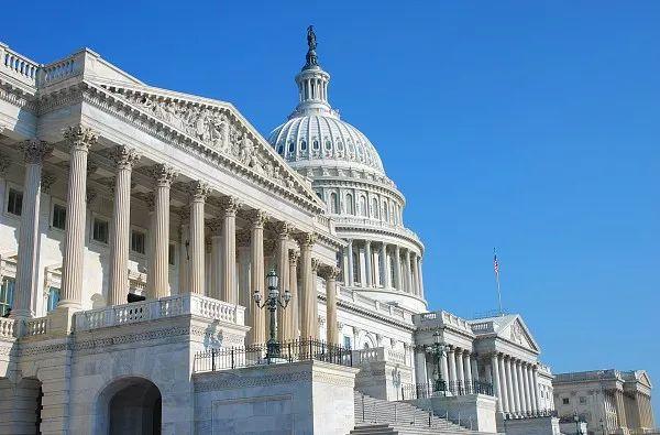美国国会大厦资料图,图片源于视觉中国