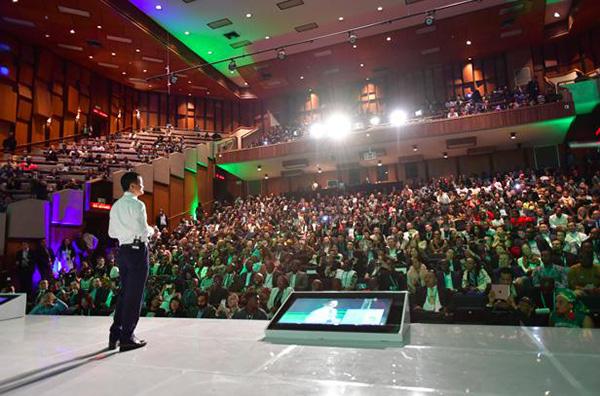 听众席坐满了来自南非各界的精英,聆听来自中国的智慧
