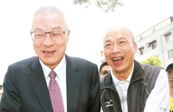 吴敦义韩国瑜。(图片来源:台湾《联合报》)