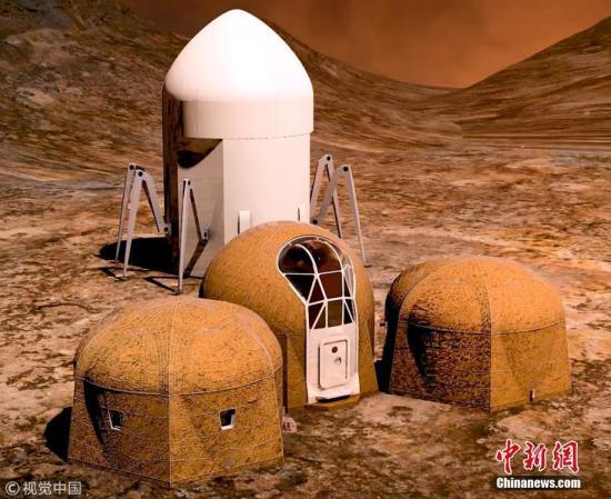 资料图:NASA举办火星住宅设计比赛入围作品图。图片来源:视觉中国