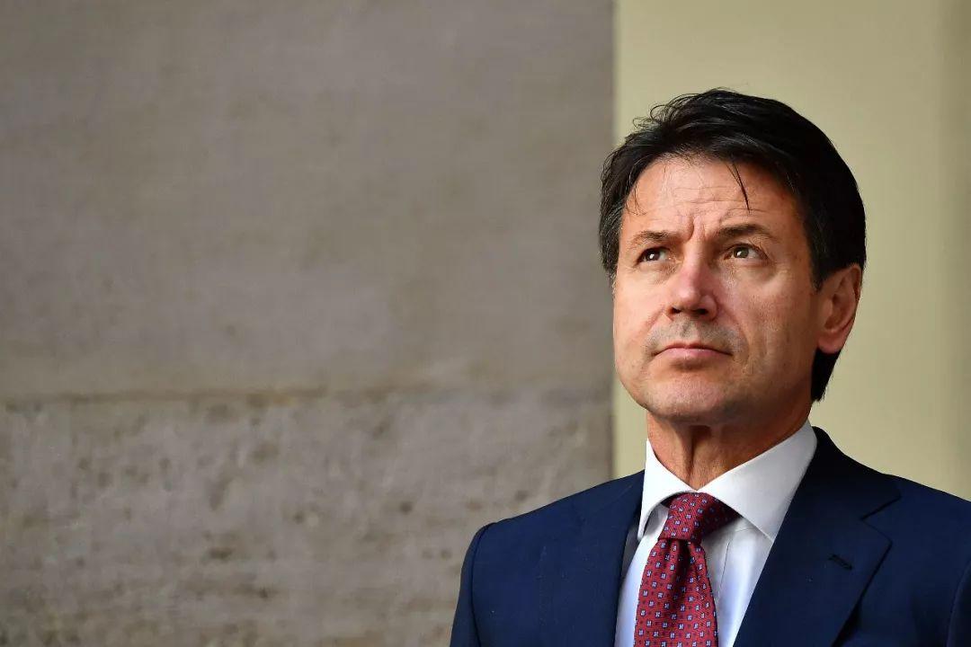 图为意大利总理孔特