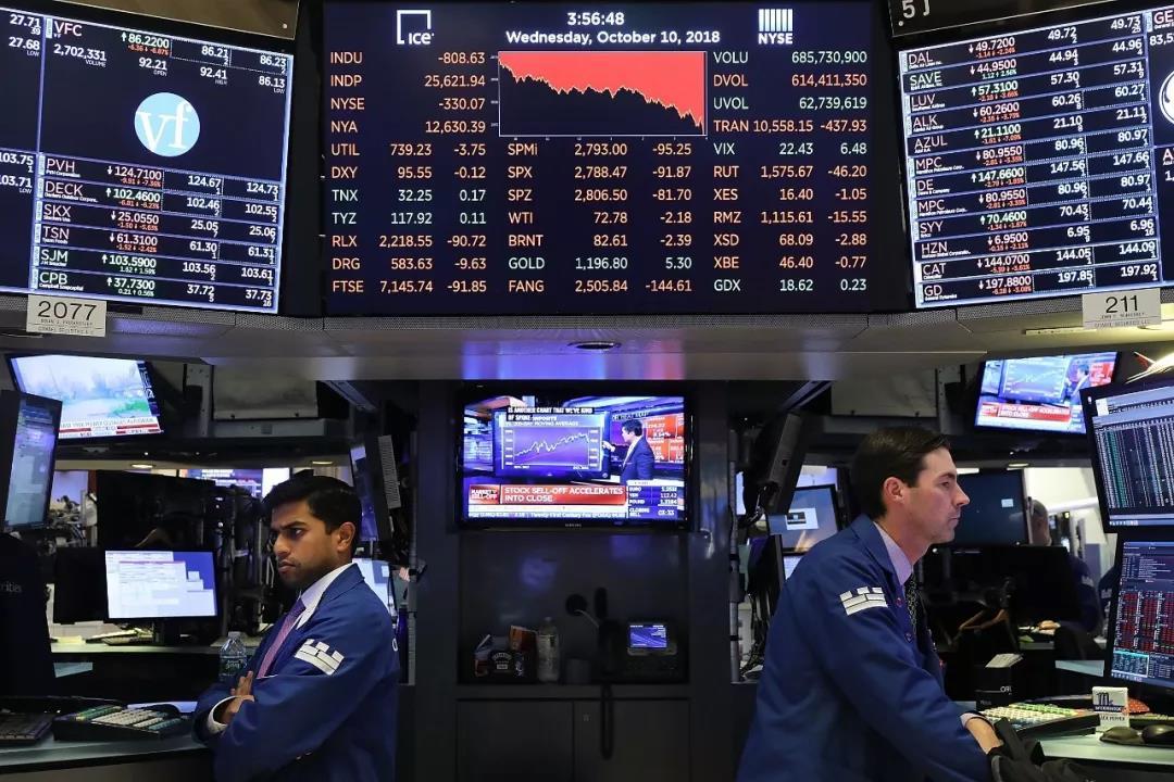 """""""股灾""""再现?美股昨日惨遭血洗 全球股市接力暴跌的照片 - 4"""
