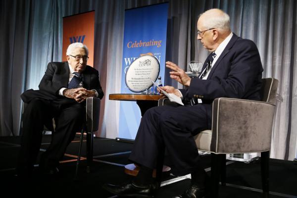 9月13日,基辛格在华盛顿智库威尔逊中心出席活动,分享对当前中美关系的看法。(图片来自威尔逊中心官网)
