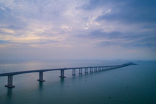 港珠澳大桥香港段 新华社 图