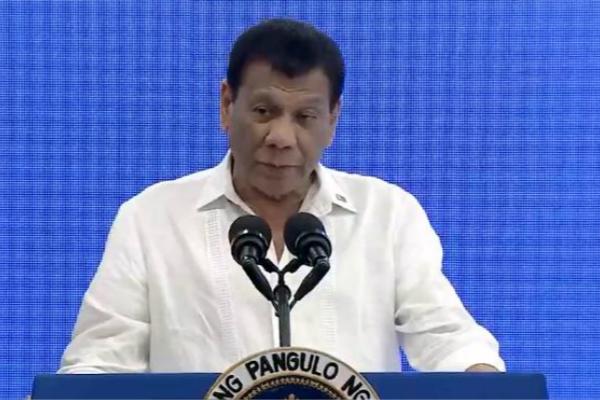 杜特尔特(图:菲律宾媒体视频截图)