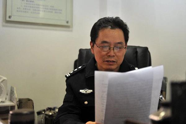 赵熙华在做事中。上海黄浦公安 供图