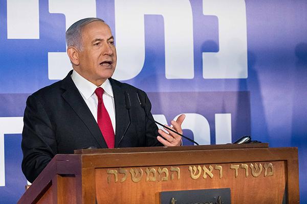 以色列总理内塔尼亚胡。视觉中国 图