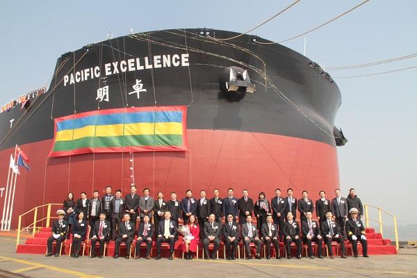 """40万吨!第二艘世界最大智能船""""明卓""""号交付"""