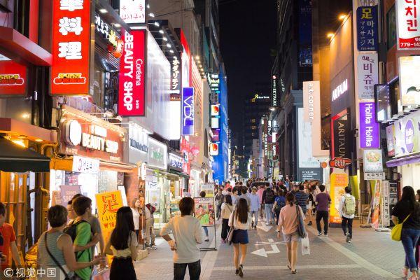 韩国街头(视觉中国)