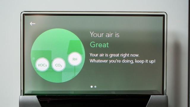 GLAS还会告诉您家中,恒温器附近的空气质量
