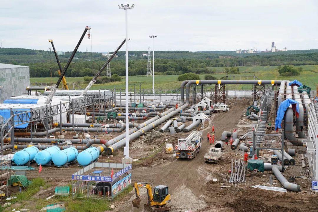▲资料图片:拍摄于8月20日中俄东线天然气管道工程黑河首站施工现场。(新华社)