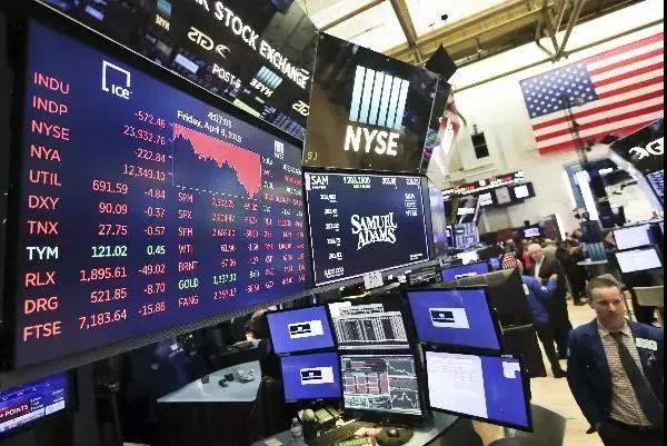 ▲4月6日,纽约股市三大股指收盘下跌。 图片来源:新华社。