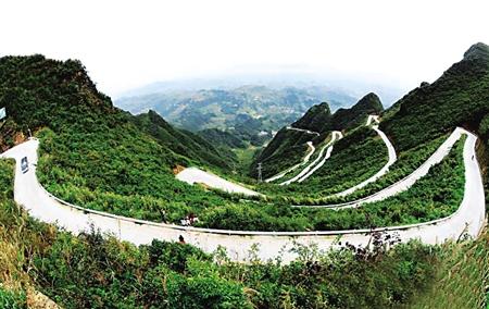 重庆秀山风景图片_48弯 秀山盘山路 敢来走一遭? 山路 公路 图片_新浪新闻