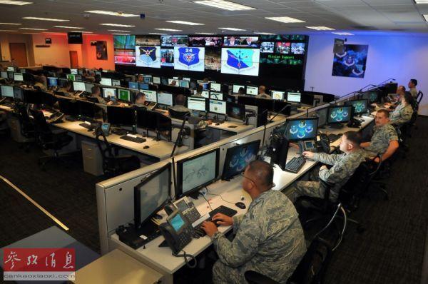 原料图:美国莱克兰空军基地网络战中心。
