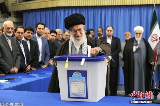 资料图:伊朗最高领袖哈梅内伊。