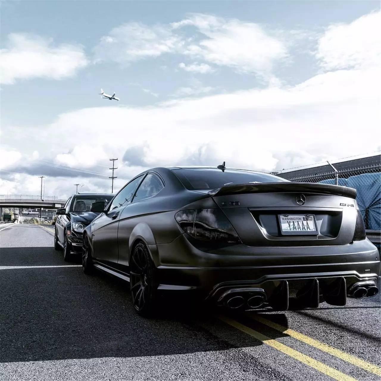 c63 amg改装_来自德国的黑衣杀手 奔驰C63 AMG改装案例-新浪汽车