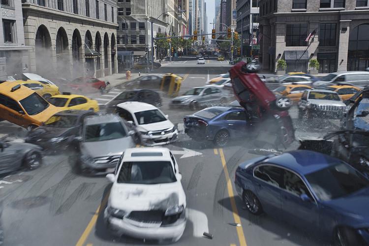 《速度与激情8》里的纽约撞车戏怎么拍出来的?