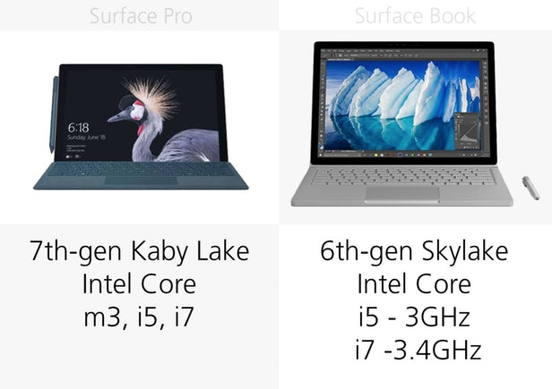 Surface Pro(2017)和Surface Book同门规格参数对比的照片 - 12