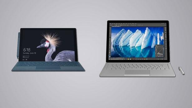 Surface Pro(2017)和Surface Book同门规格参数对比的照片 - 1