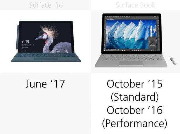 Surface Pro(2017)和Surface Book同门规格参数对比的照片 - 22